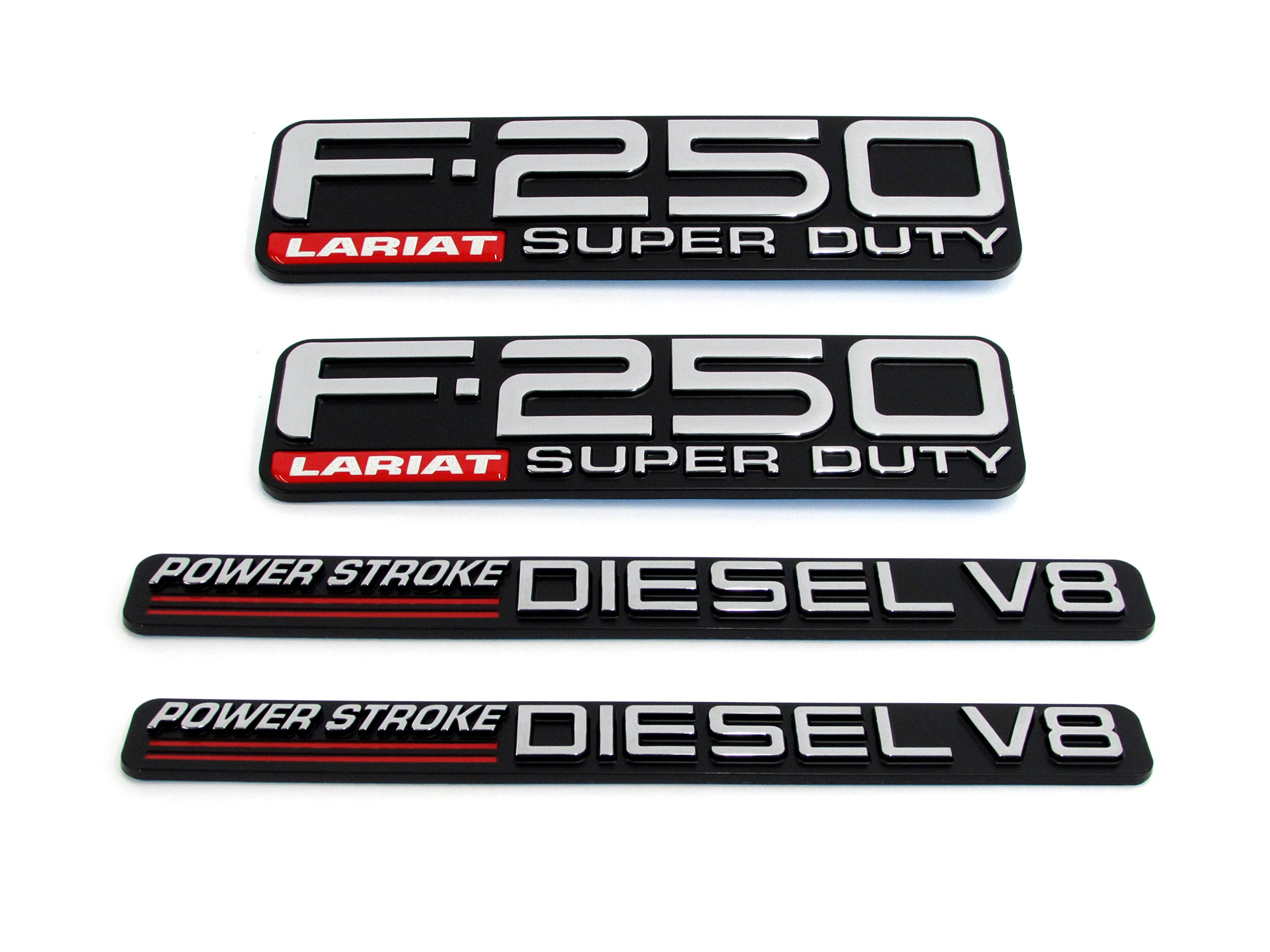 1999-2000 Ford F-250 Lariat Super Duty Powerstroke Diesel V8 Fender Emblems OEM by Ford