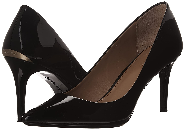 Calvin Klein Women's Gayle Pump B00O2H3HPM 5 B(M) US|Black Patent