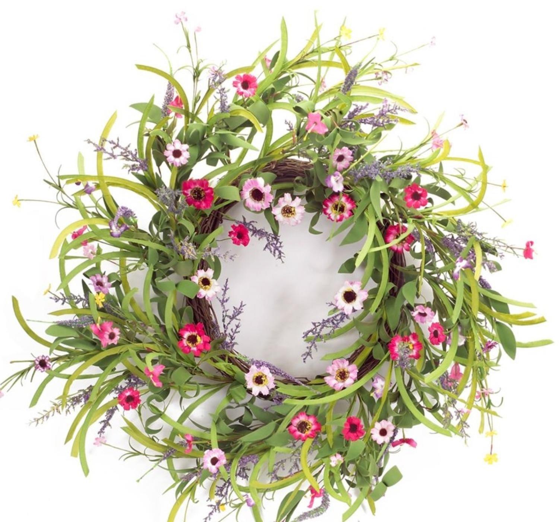 Pack of 4 Decorative Springtime Wild Flower Bloom Wreath by Melrose (Image #1)
