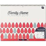 Boxclever Press Family Home Planner calendario famiglia 2019. Calendario mensile, calendario familiare. Calendario scolastico con 6 colonne. Inizia ora e dura fino a Dicembre 2019