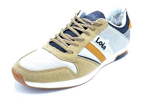 Lois 84650 Beige - Zapatilla Urbana para Hombre (42)