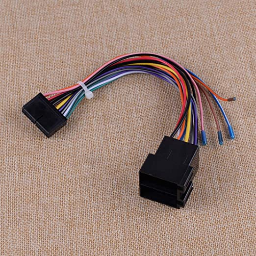 Citall 20pin Iso Kabelbaumstecker Adapter Fit Für Iso Android Car Stereo Blei Auto