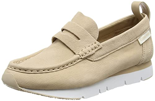 Calvin KleinSONORA Washed Nubuck - Mocasines Mujer, Color Beige, Talla 38: Amazon.es: Zapatos y complementos
