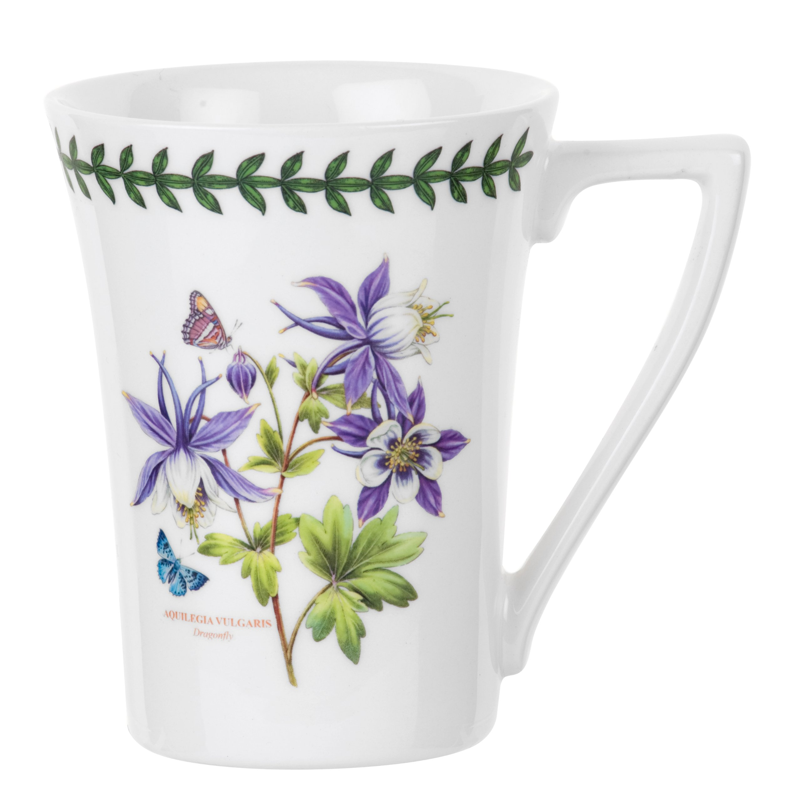 Portmeirion Exotic Botanic Garden Mandarin Mug with Dragonfly Motif, Set of 6