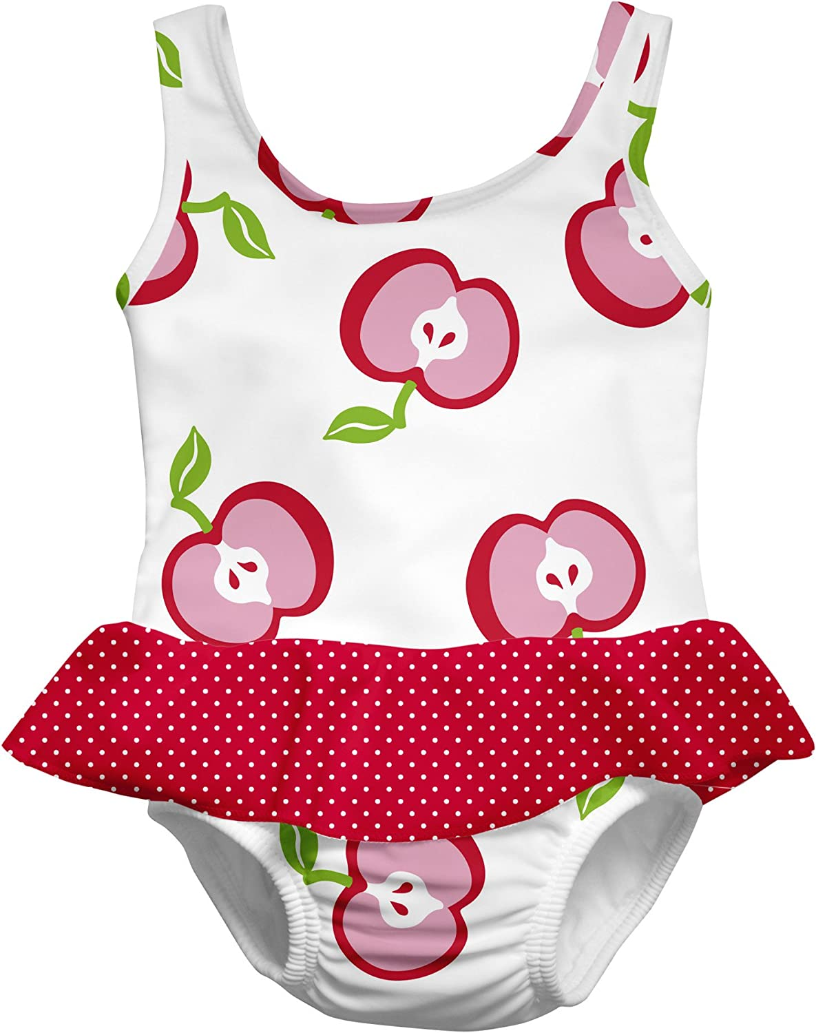 i play Baby Girls One Piece Swimsuit with Built in Reusable Swim Diaper