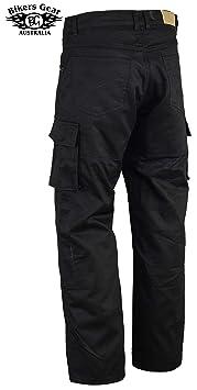 Black LT1004 UK Bikers Gear Australia Mens soft premium leather motorcycle pants 34S EU 44L