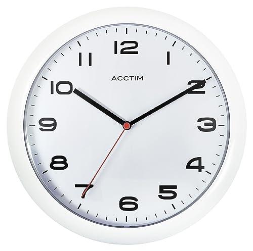 Acctim 92 301 Aylesbury Wall Clock White Amazon Co Uk