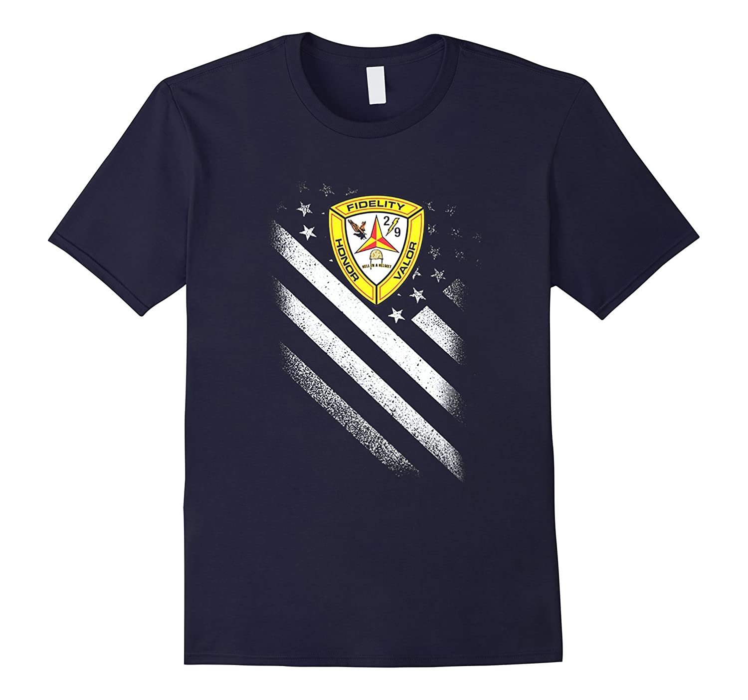 2ND BATTALION 9TH MARINES AMERICAN FLAG TSHIRT-BN
