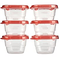 6-Pack Rubbermaid Mini Food Storage Containers 0.5 Cup Deals
