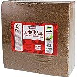 Minute Soil - Compressed Coco Coir Fiber Grow Medium - 1 Block = 15 Gallons of Potting Soil (Approx Wheelbarrow Full) - Garde