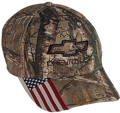 fa9b7571c6567 Amazon.com  Chevrolet Realtree Camo Hat One Size  Clothing