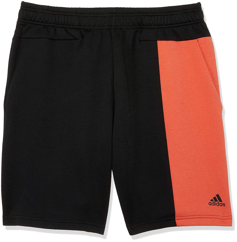 TALLA L. adidas M ID Sta RMX SH - Pantalón Corto, Hombre, Gris(