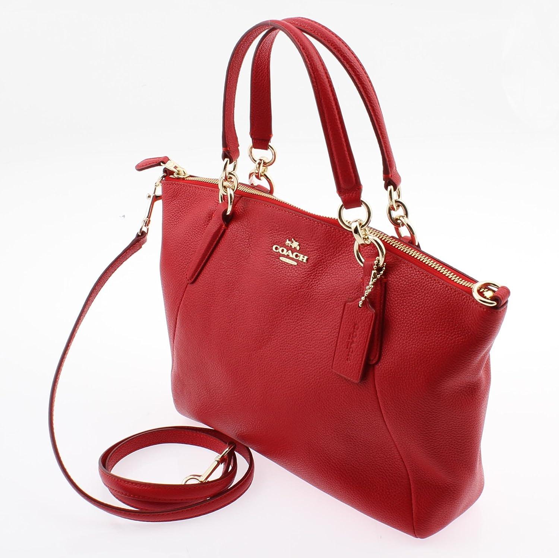 094eaa9cf9 Coach Pebble Leather Small Kelsey Satchel Crossbody Bag in True Red F54272  IMDN8: Handbags: Amazon.com