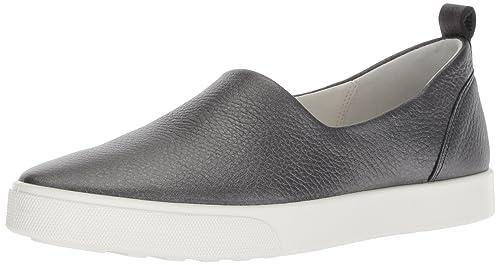 9bf6dc91ddb83 ECCO Women's Women's Gillian Slip On Sneaker, Black/Dark Silver, 35 M EU