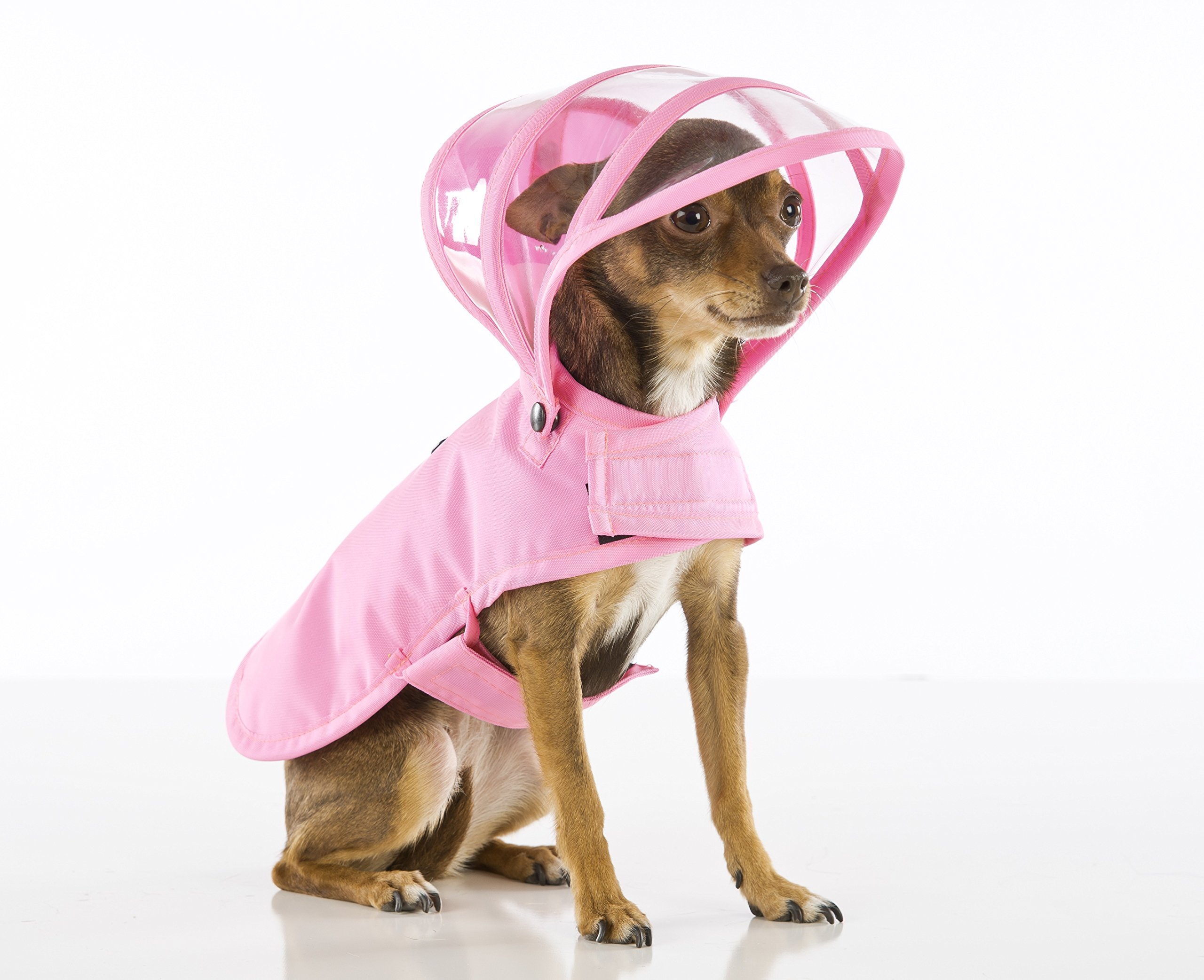 Dog Raincoat Pink (L)