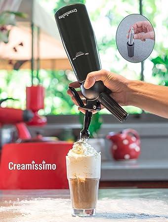 Sifón de crema + especial dedicado cepillo de limpieza - creamissimo profesional de dispensador de nata montada - 1 pinta grande - sólo uno con dedicado ...
