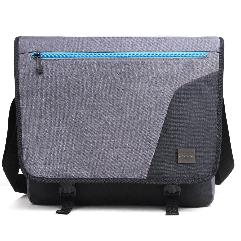 DTBG Laptop Messenger Bag 15.6 Inch Nylon Laptop Bag School Shoulder Bag Portable Briefcase Laptop Case For Notebook/Computer/Tablet/MacBook/Ultrabook/Chromebook (Grey)