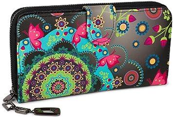 40d826e043b1e styleBREAKER Geldbörse mit Ethno Blumen und Blüten Muster