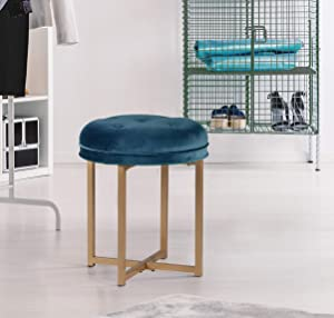 Hillsdale Furniture Vanity Stool, Sapphire Blue