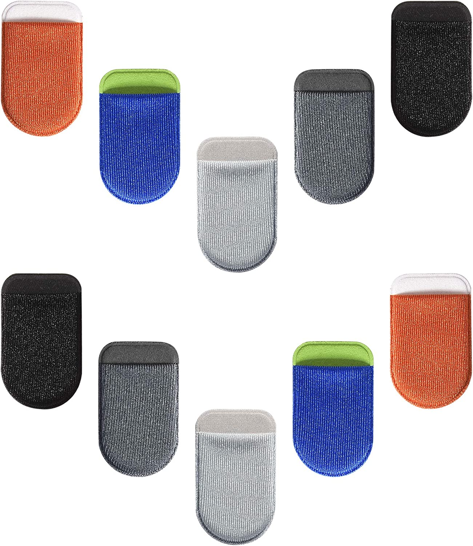 TXEsign Adhesive Elastic Pocket Holder for Adapter/Memory Card/Micro SD/Sim Card/Nano Sim Card/Camera Cards Storage (Set of 10)