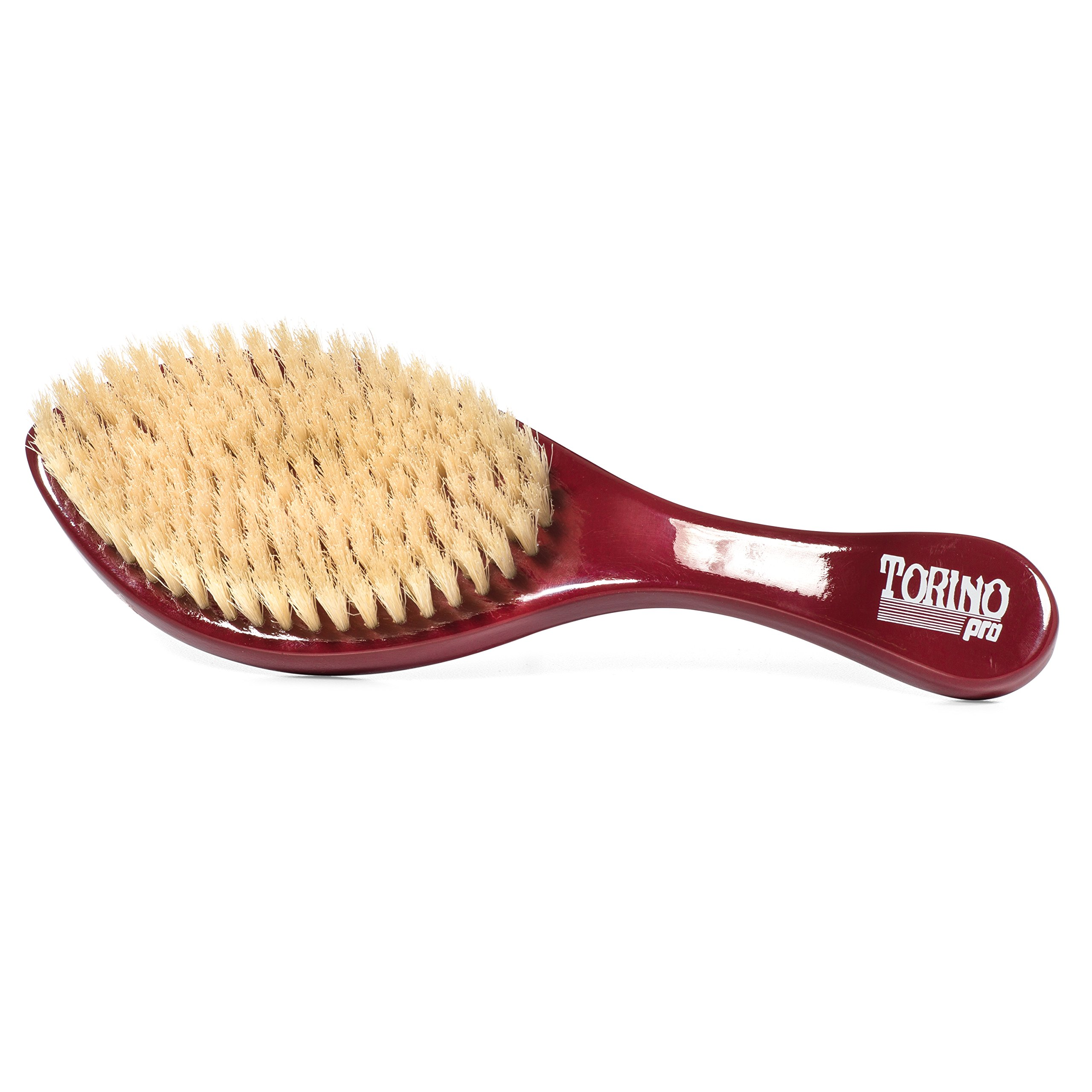Torino Pro Wave Brush #490 by Brush King - Medium Curve Wave Brush - Made with 100% Boar Bristles - All Purpose Wave Brush Great 360 Waves Brush by Torino Pro (Image #3)