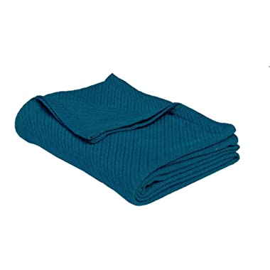 Cotton Craft - 100% Soft Premium Cotton Thermal Blanket - Full/Queen Teal - Snuggle in these Super Soft Cozy Cotton Blankets - Perfect for Layering any Bed - Provides Comfort and Warmth for years