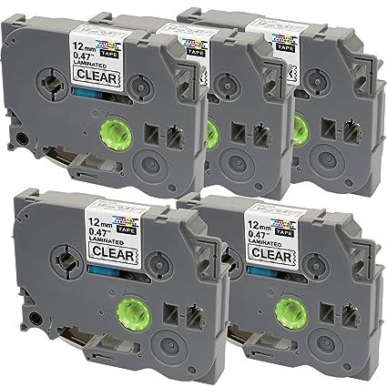 5 Casetes de Cinta compatibles con TZe131 TZ131 Negro sobre ...