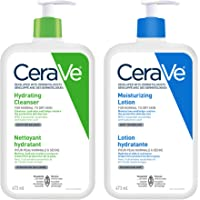 Cerave Daily Face Cleanser and Lotion Bundle, Hydrating Face Wash for Dry Skin and Moisturizing Lotion with Hyaluronic…