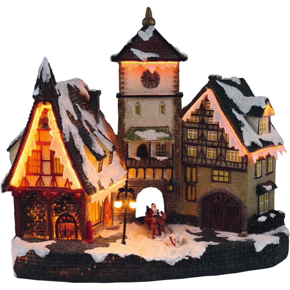 insatech Beleuchtetes Stadttor durch Fiberoptik beleuchtet mit Farbwechsel Weihnachtsmarkt Altstadt