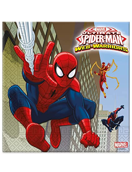 COOLMP - Lote de 12 servilletas de Papel Spiderman 33 x 33 ...