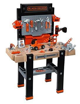 Stupendous Smoby 360702 Black Decker Kids Work Bench And Tools Amazing Complete Workbench Including Electronic Drill Saw And Accessories Ages 3 Customarchery Wood Chair Design Ideas Customarcherynet