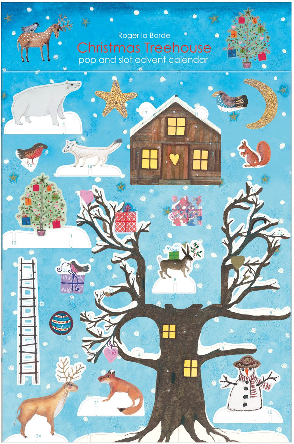CHRISTMAS TREEHOUSE POP AND SLOT ADVENT CALENDAR ROGER LA BORDE