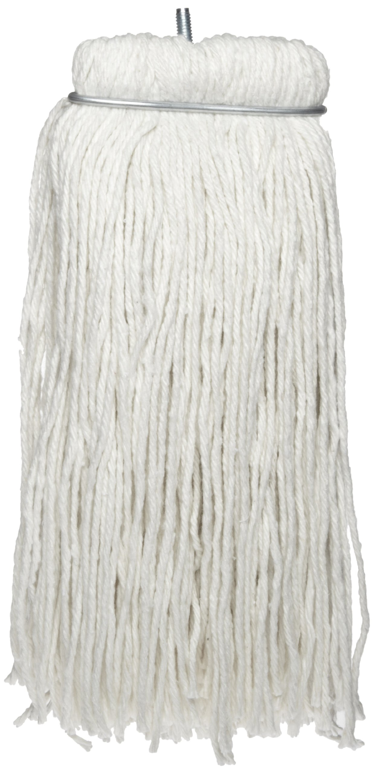 Impact 61112 Layflat Screw-Type Regular Cut-End Rayon Wet Mop Head, 12 oz, White (Case of 12) by Impact Products