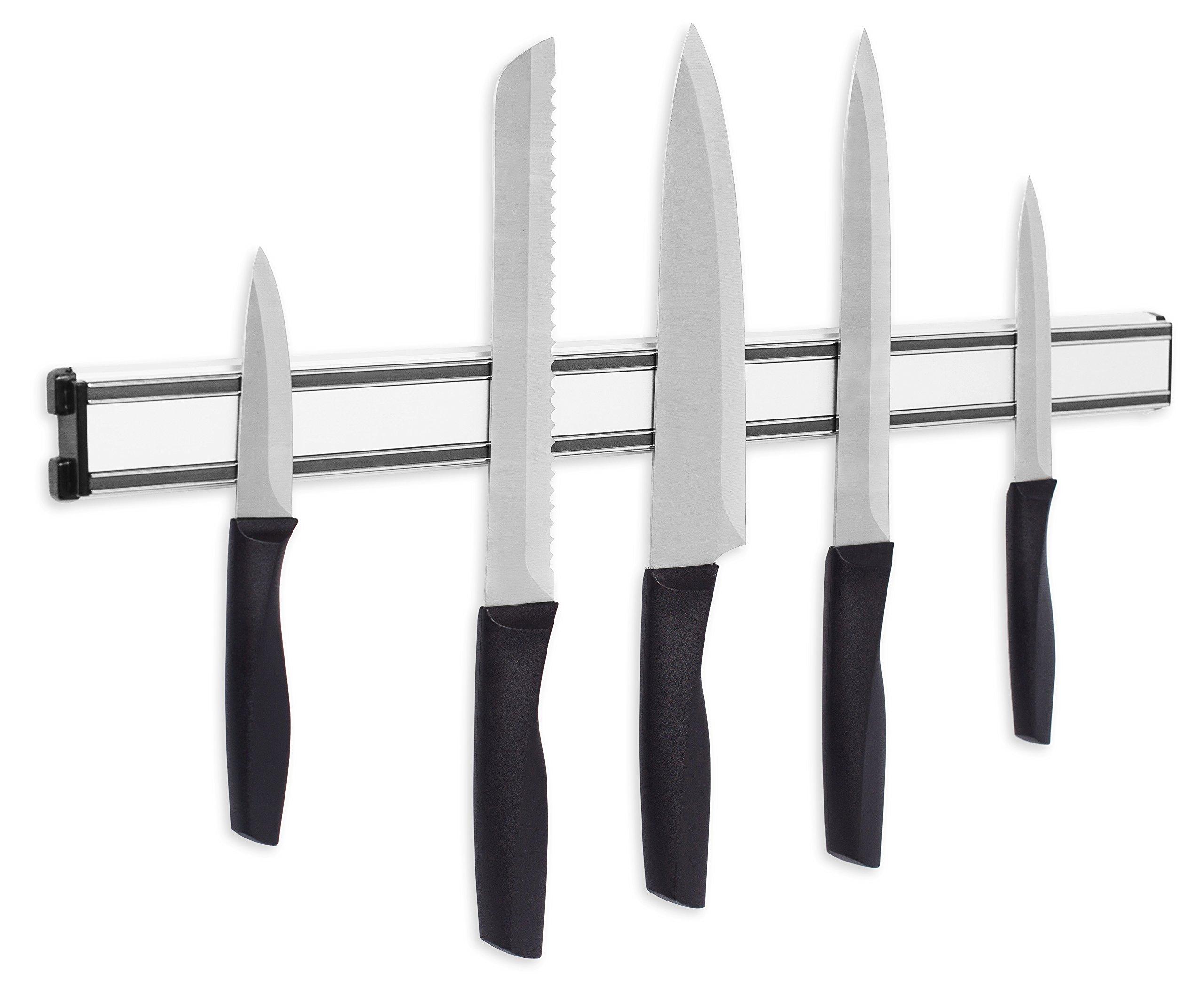 Internet's Best Magnetic Knife Rack | 20 Inch | Knife Storage Bar Strip | Aluminum | Metal Knives, Utensils and Kitchen Sets Holder by Internet's Best