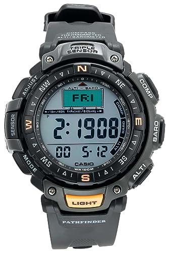 Casio Hombre Pathfinder Triple Sensor altímetro/barómetro/brújula Digital Reloj # pag40 - 3 V: Casio: Amazon.es: Relojes