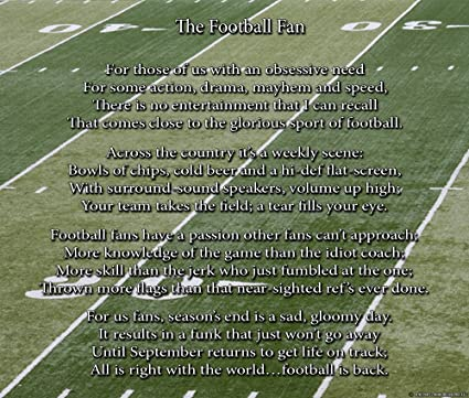 football poems for funerals
