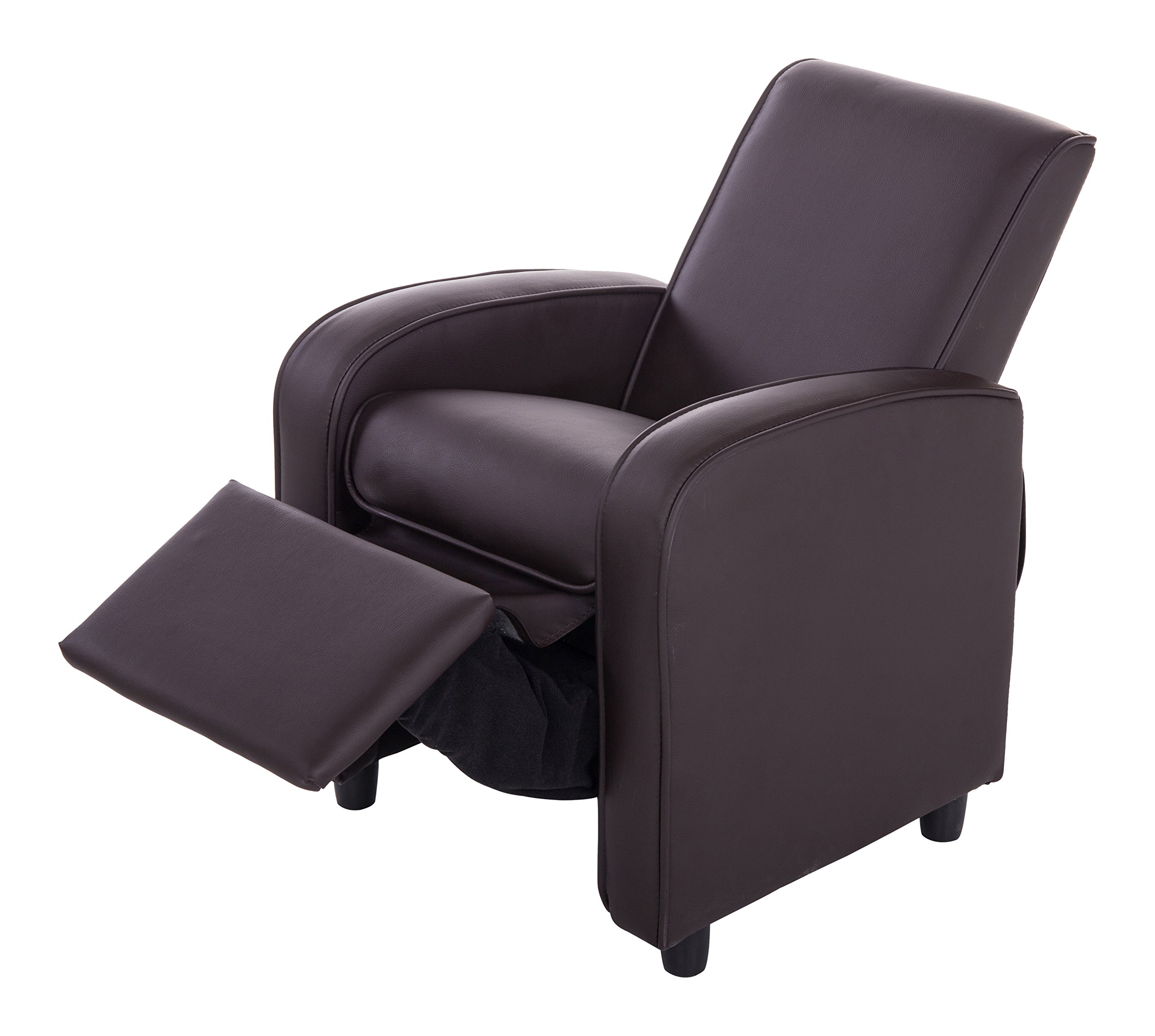 Mochi Furniture KR2021BRN PU Leather Kids Recliner, Brown by Mochi Furniture