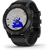 Garmin fenix 6 Pro, Premium Multisport GPS Watch, Smaller-Sized, features Mapping, Music, Grade-Adjusted Pace Guidance…