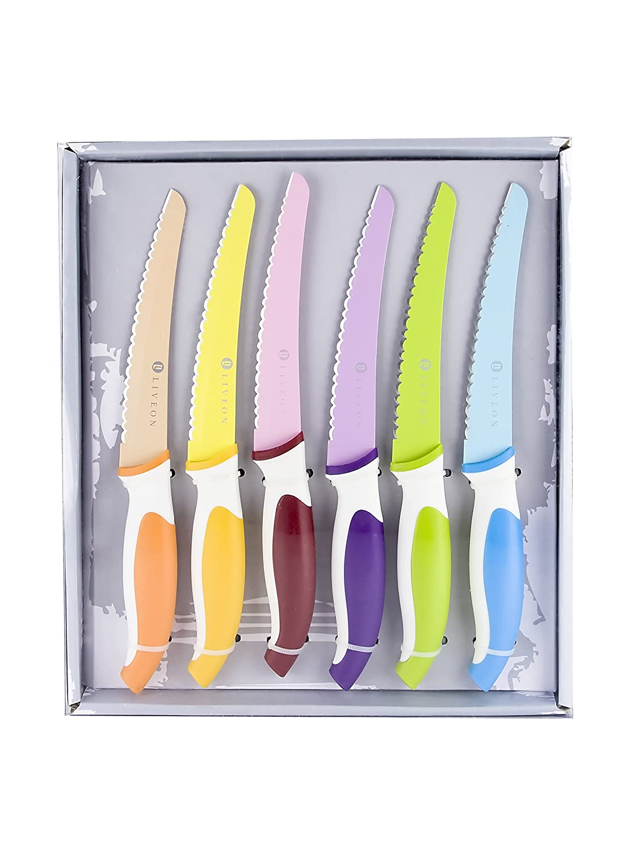 Compra Darna Home Set 6 Cuchillos De Carne Esmaltados en ...