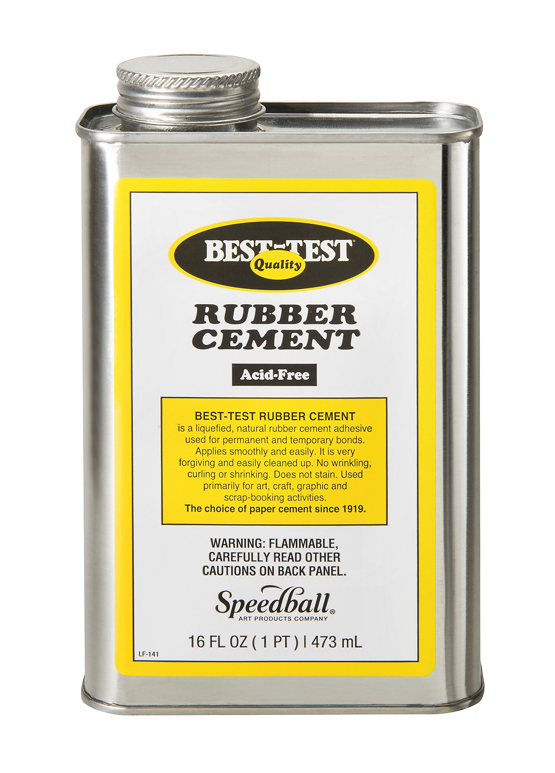 Best-Test Rubber Cement 16OZ Can by Union Rubber