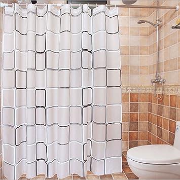 Gitter Vorhang für die Dusche, iamuq Schimmelresistent Stoff ...