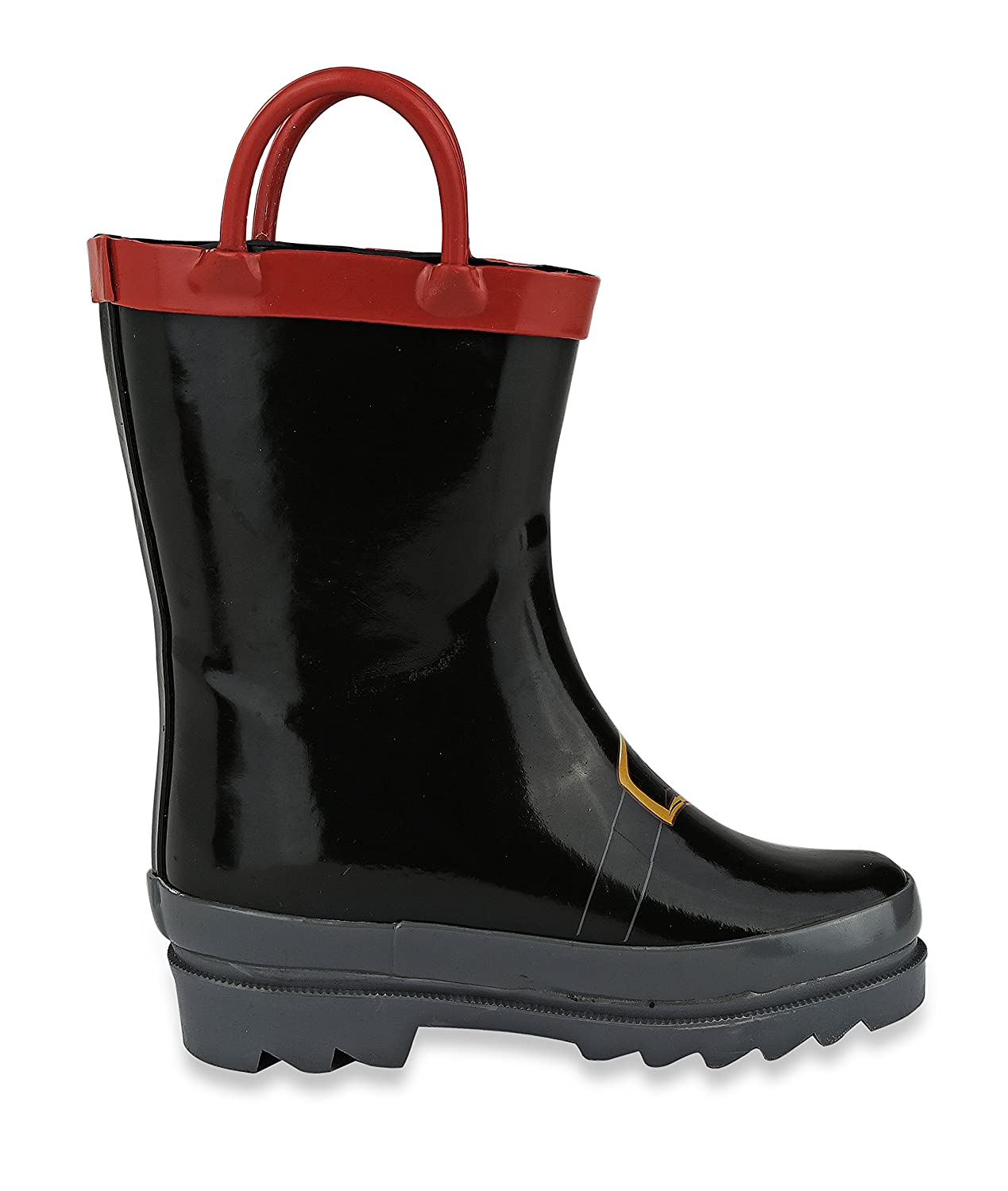 Boys Pirate Printed Waterproof Easy-On Rubber Rain Boots Toddler /& Little Kids