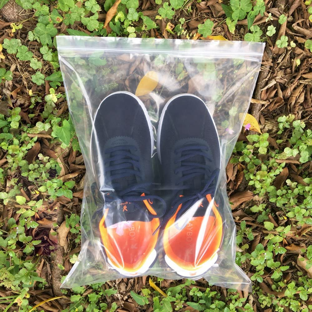 Cherodada 10 x 13 100pcs Resealable Plastic Bag Reclosable Zip Bags 2Mil