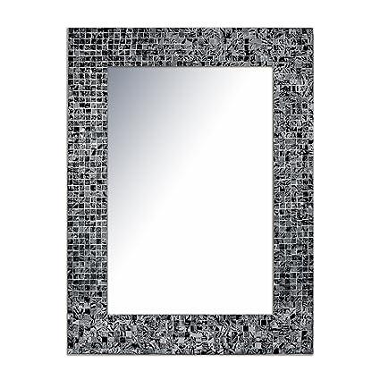 Good DecorShore 24u0026quot;x18u0026quot; Mosaic Wall Mirror, Accent Mirror, Rectangular Decorative  Mirror With