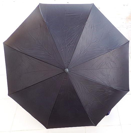 Paraguas Invertido. Paraguas Original Reversible de Colores de Mujer y Hombre Antiviento, Abre y Cierra al revés Asa Suave C Bolsa (Azul): Amazon.es: ...