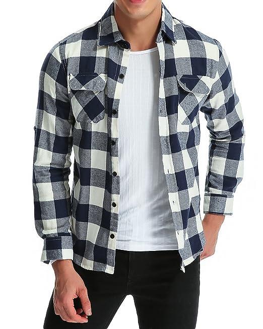 MODCHOK - Camisa casual - Manga Larga - para hombre cBxI5e6gY