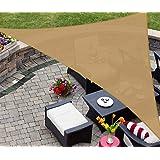 AsterOutdoor Sun Shade Sail Triangle 12' x 12' x 17' UV Block Canopy for Patio Backyard Lawn Garden Outdoor Activities…
