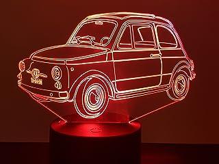 Fiat 500 Topolino, 3D-Lampe LED
