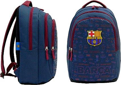FC Barcelona Sac /à Dos pour Enfants Football Bleu