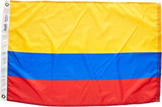 product image for Annin Flagmakers Model 191761 Colombia Flag Nylon SolarGuard NYL-Glo, 2x3 ft, 100% Made in USA to Official United Nations Design Specifications